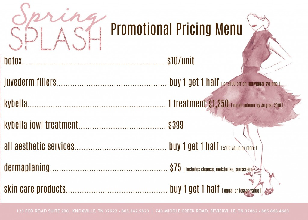 menu of pricing